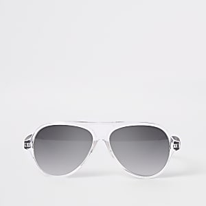 Mini boys silver aviator sunglasses