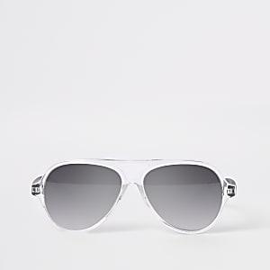Mini - Silberne Pilotensonnenbrille für Jungen
