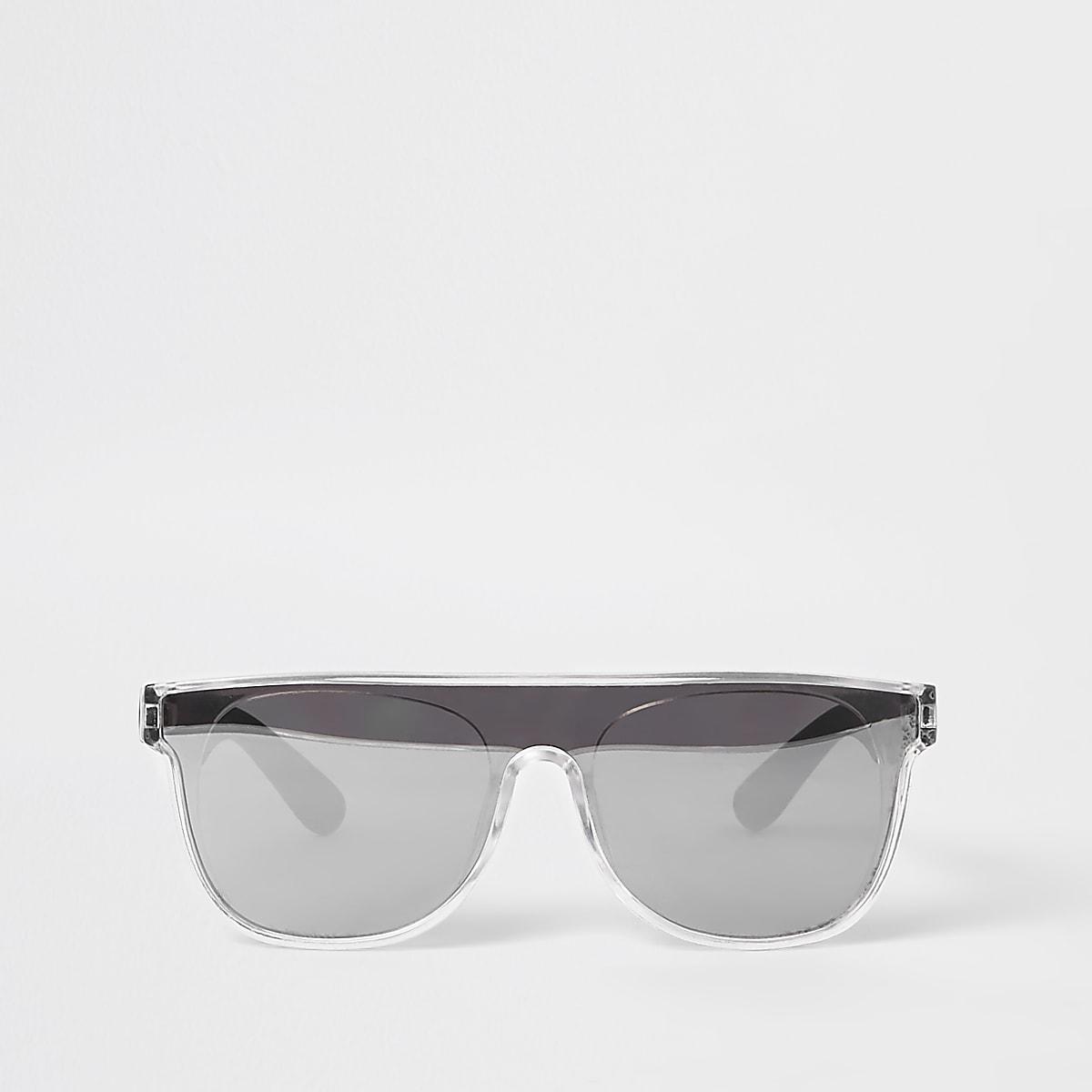 Mini boys black visor sunglasses