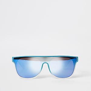 Mini - Blauwe visor zonnebril voor jongens