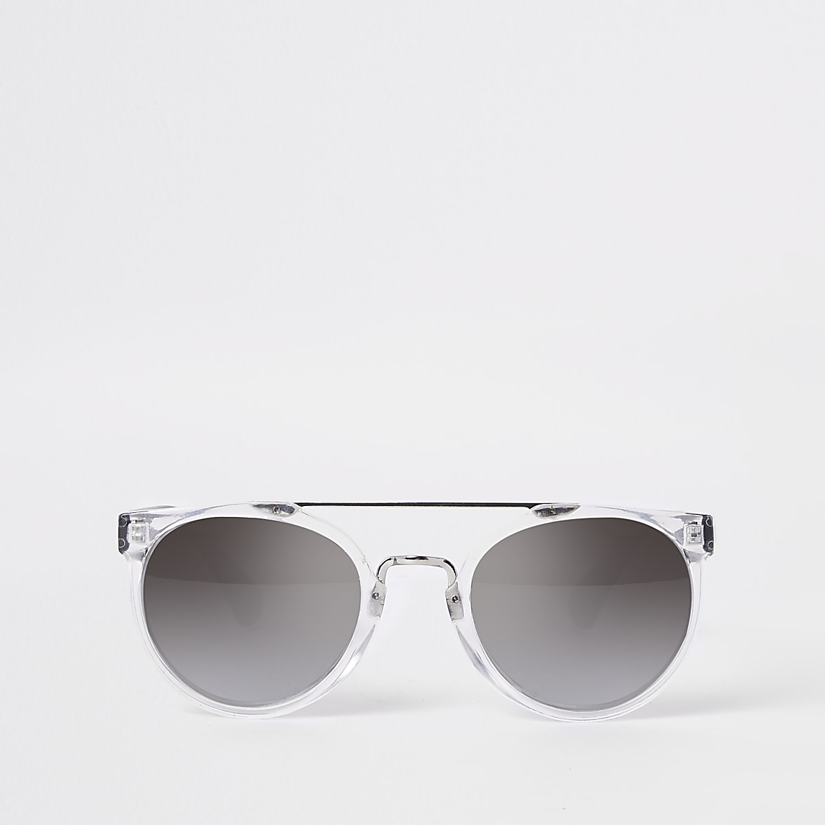 Boys silver retro sunglasses