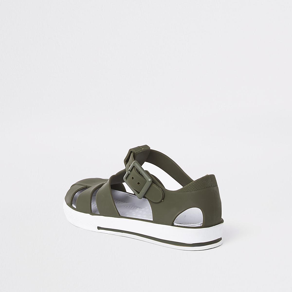 620220af25449 Sandales en plastique kaki pour mini garçon - Sandales pour bébé ...