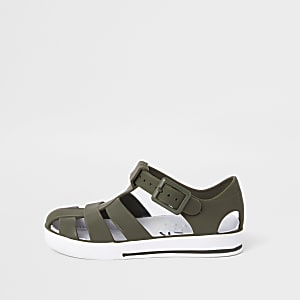 Mini boys khaki jelly sandals