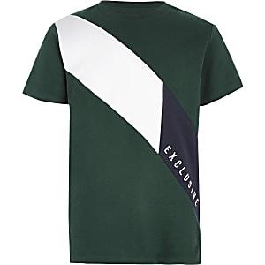 T-shirt «Exclusive» vert pour garçon
