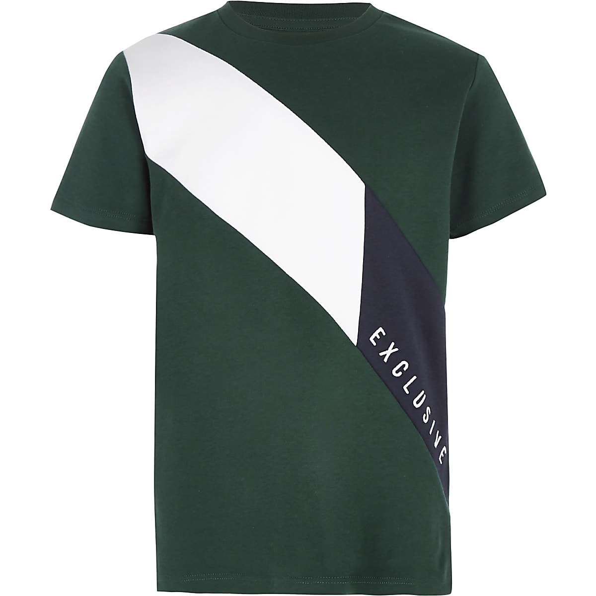 Boys green 'Exclusive' block T-shirt