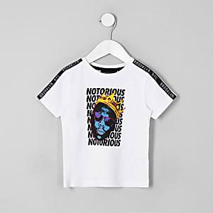 Mini boys white Biggie Smalls T-shirt