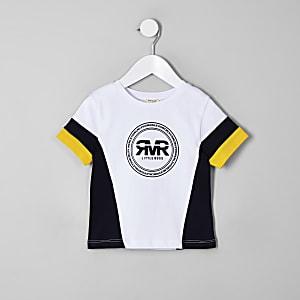 T-shirt color block RI jaune mini garçon