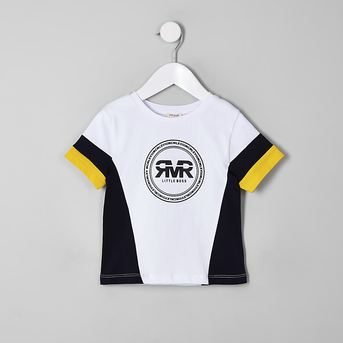 Mini boys yellow RI block T-shirt