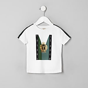 T-shirt «Future leader» blanc mini garçon