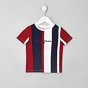 Mini - RI T-shirt met verticale streep voor jongens