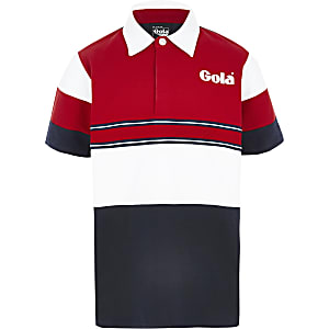 Gola – Exclusivité – Polo colour block bleu marine pour garçon