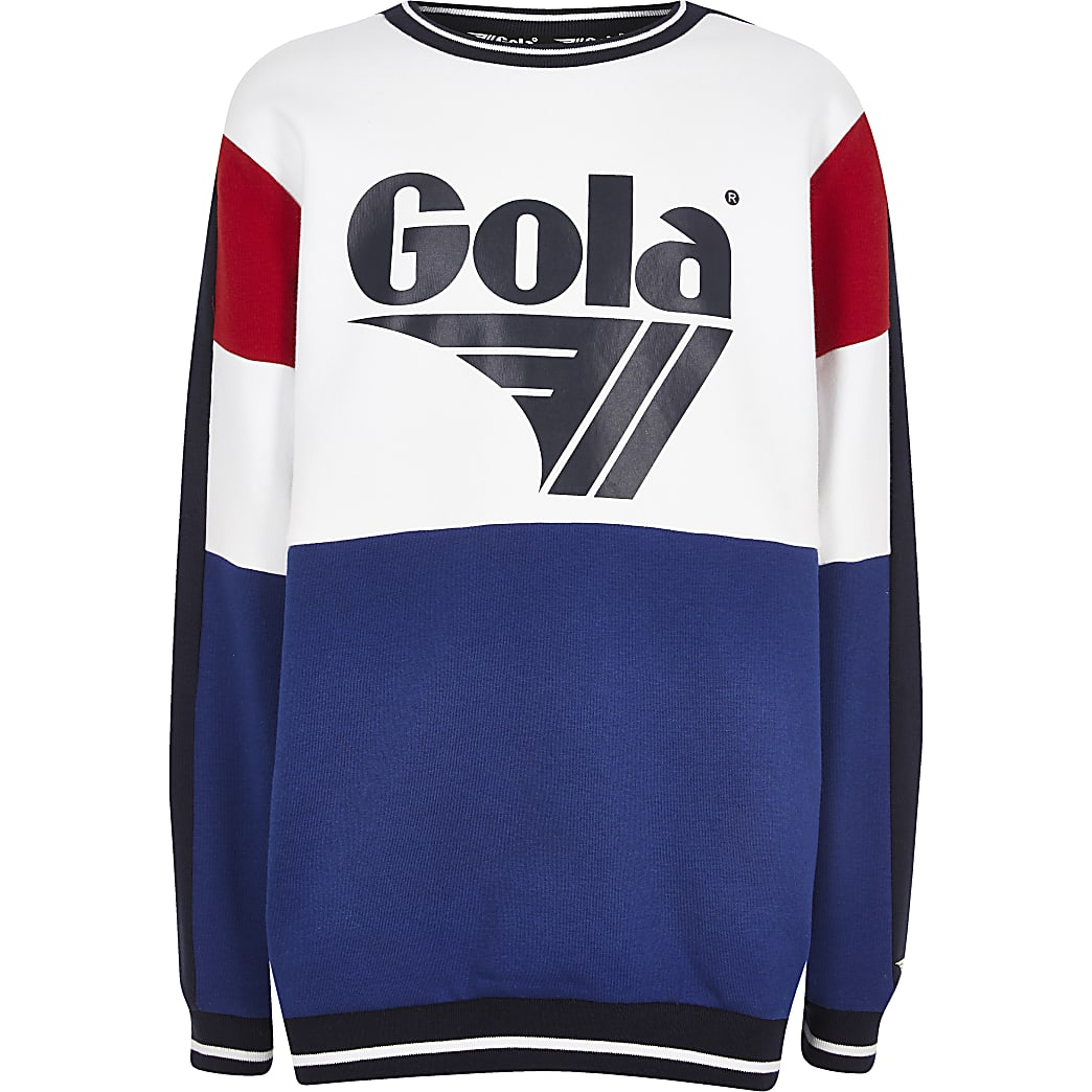 Boys navy Gola Exclusive sweatshirt