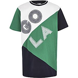 Gola Exclusive - Groen T-shirt met kleurvlakken voor jongens