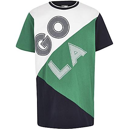 Boys green Gola Exclusive block T-shirt