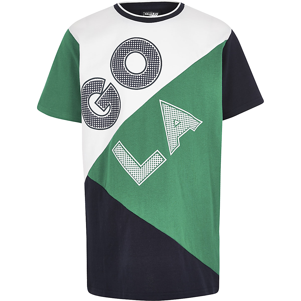 Boys green Gola Exclusive block T-shirt