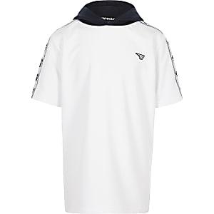 Gola – Exclusivité – Sweat à capuche manches courtes blanc pour garçon