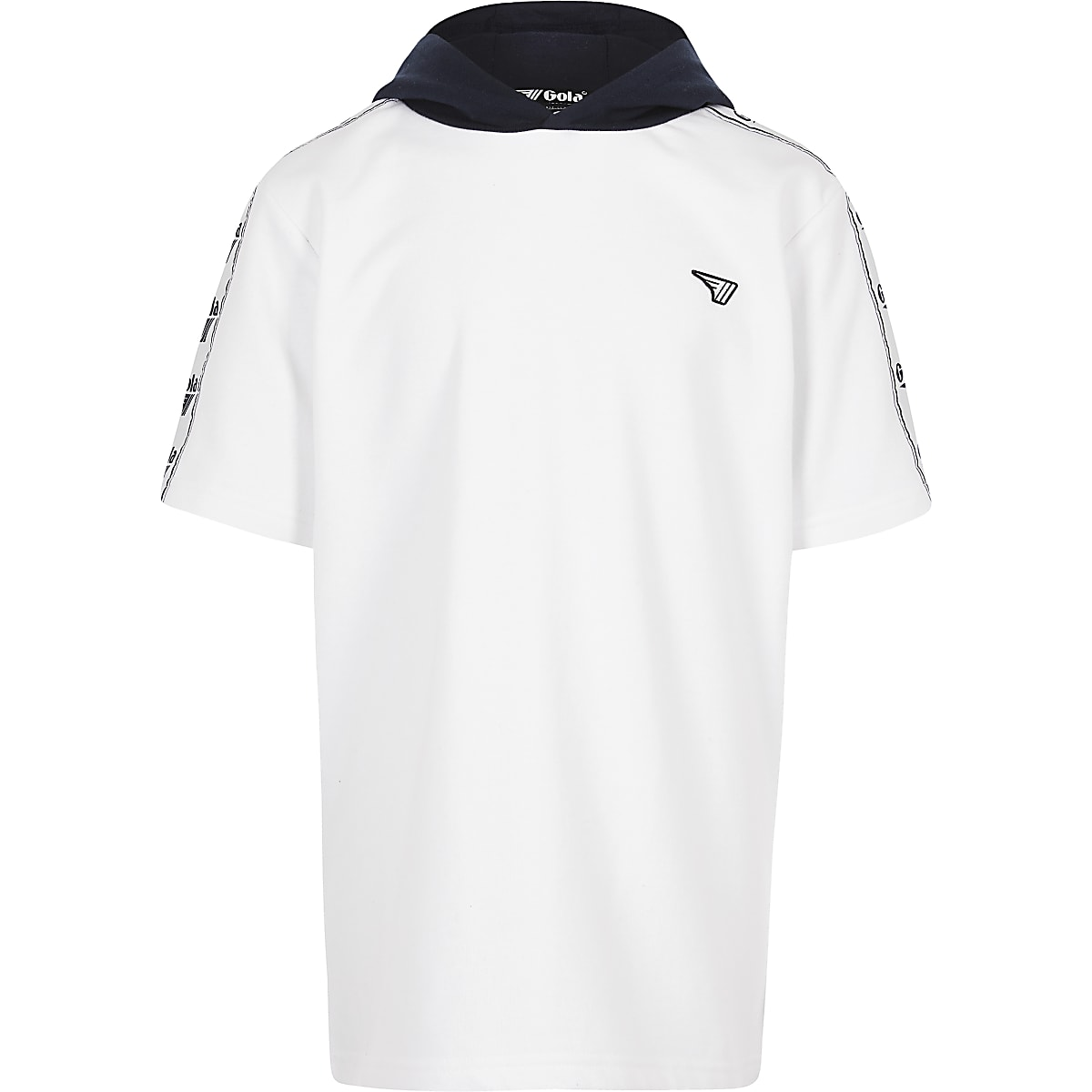 Boys white Gola Exclusive short sleeve hoodie
