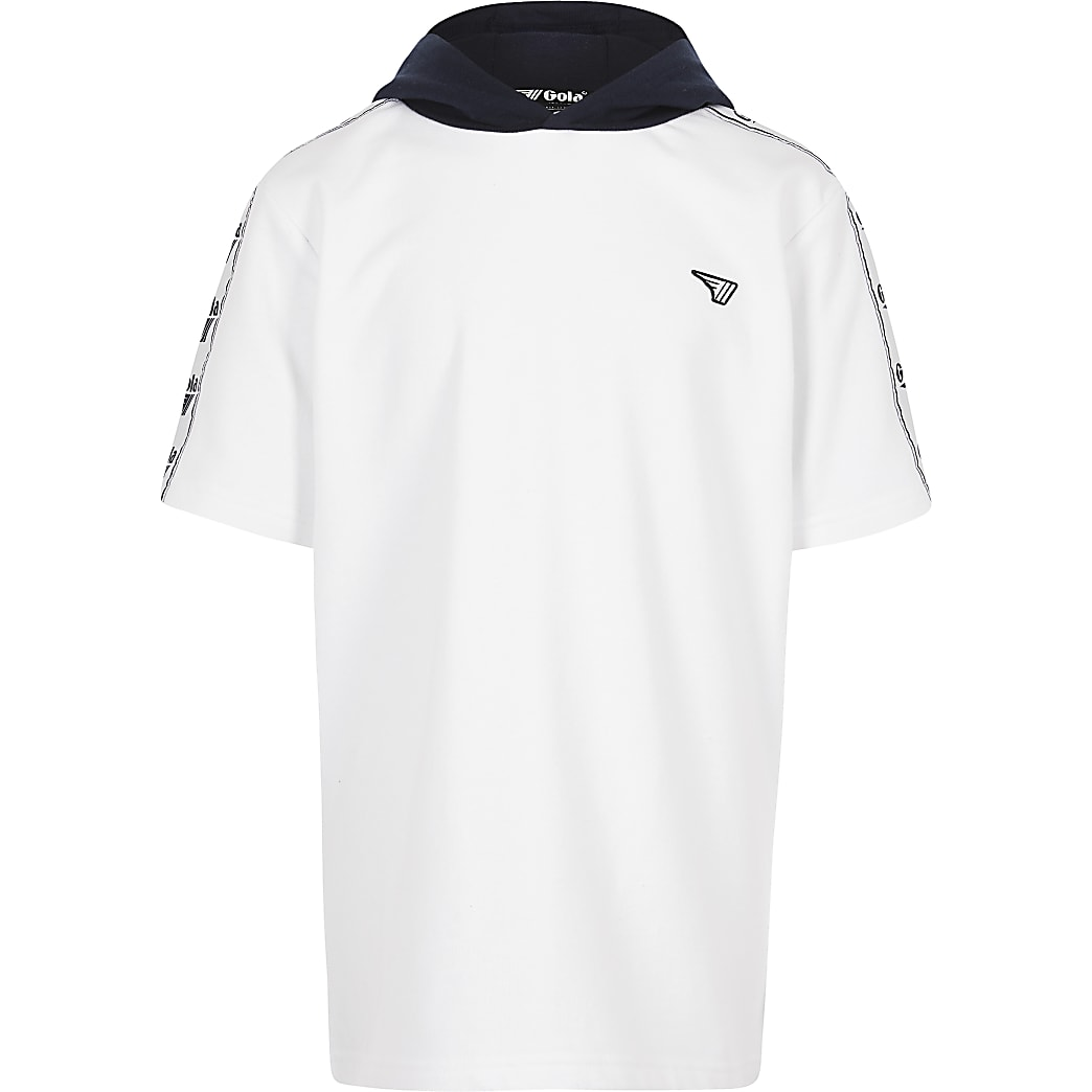 Gola Exclusive - Witte hoodie met korte mouwen voor jongens