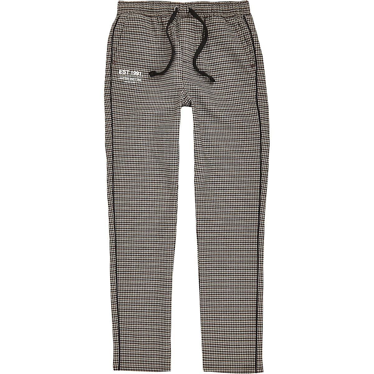 Bruine geruite broek voor jongens