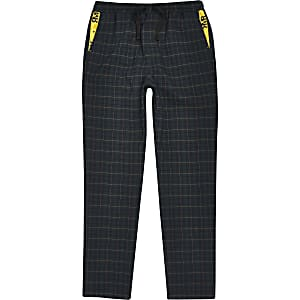 Boys green check pants