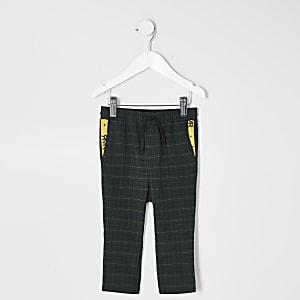 Pantalon à carreaux vert mini garçon