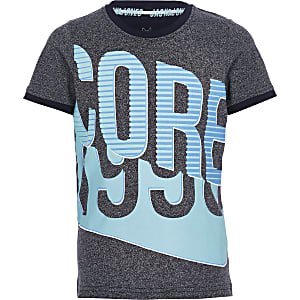 Jack and Jones - Marineblauw T-shirt met print voor jongens