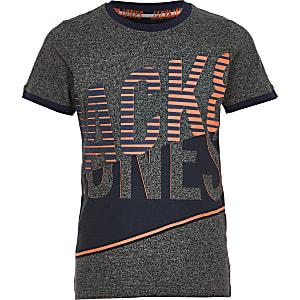 Jack & Jones – Graues, bedrucktes T-Shirt