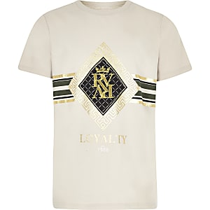Boys stone RI embroidered T-shirt