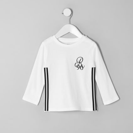 Mini boys white R96 tape T-shirt
