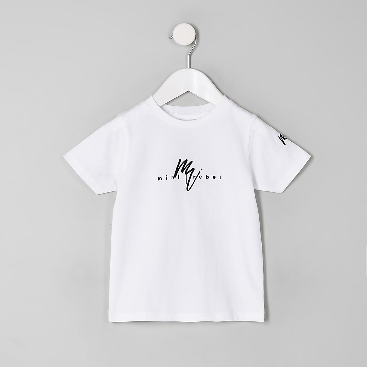 Mini boys white 'Mini rebel' T-shirt
