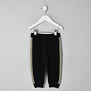 Mini boys brown check jogger