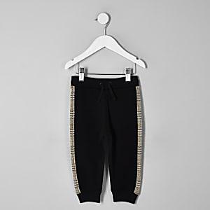 Mini - Bruine geruite joggingbroek voor jongens