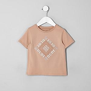 Mini kids pink foil embossed T-shirt