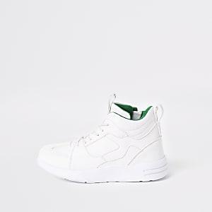 Witte stevige hoge sneakers voor jongens