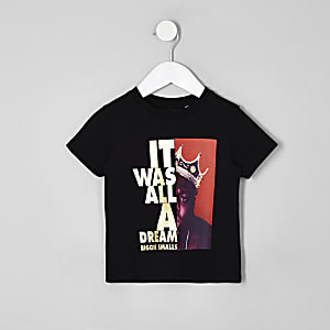 Mini - Zwart Biggie Smalls T-shirt voor jongens