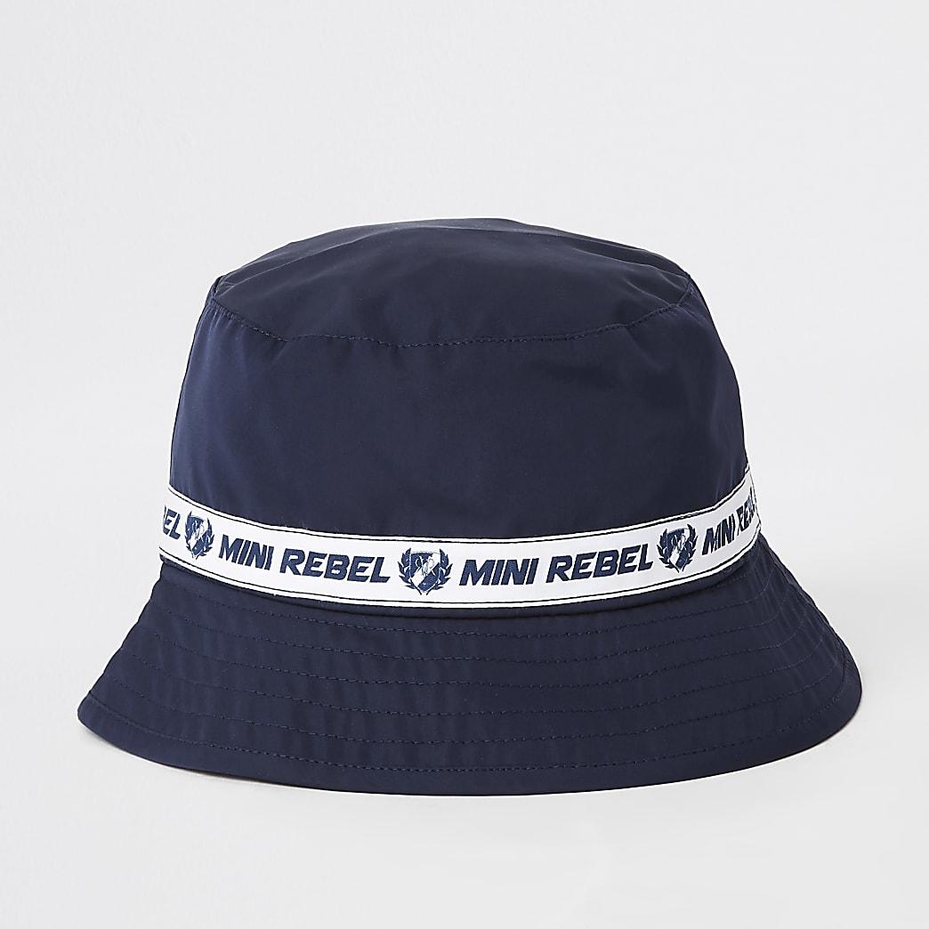 Mini boys navy 'mini rebel' bucket hat
