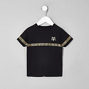 Mini - Zwart T-shirt met RI-logo voor jongens