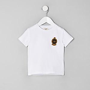 T-shirt blanc avec motif guêpe brodé mini garçon