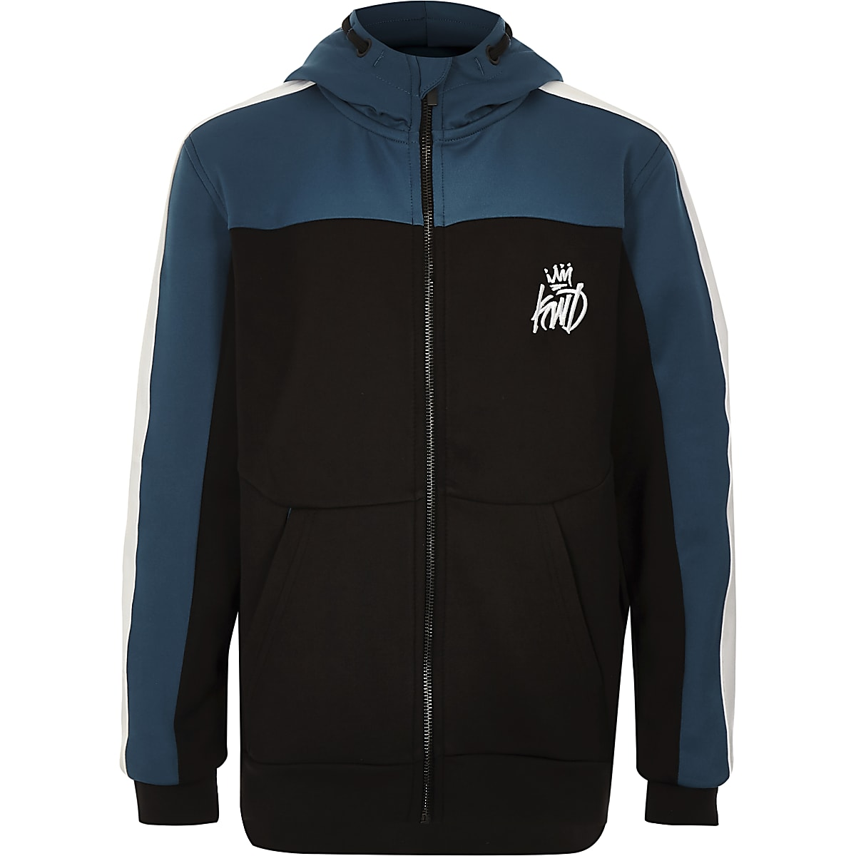 Zwarte Kings Will Dream hoodie met rits voor jongens