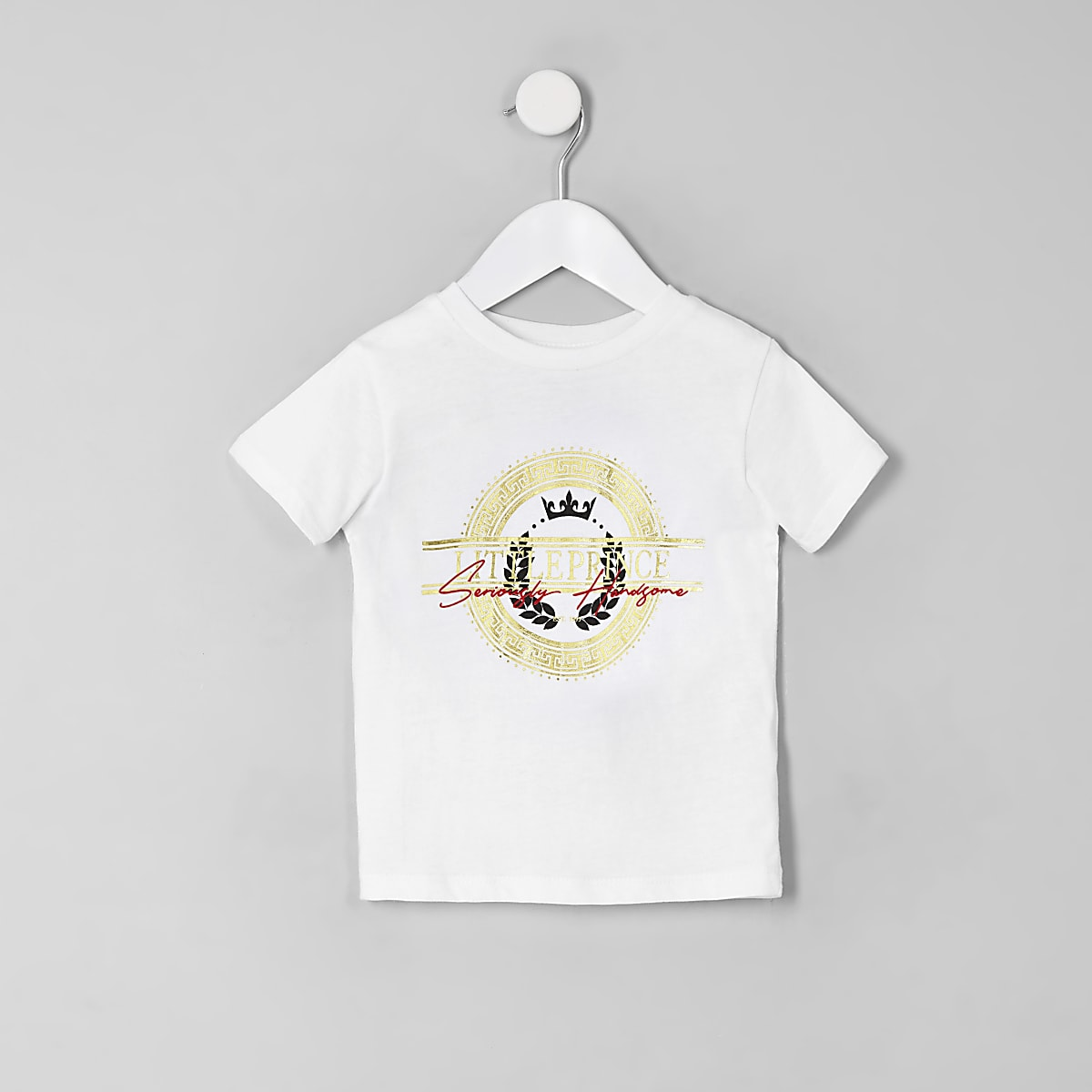 Mini boys white 'Little prince' T-shirt