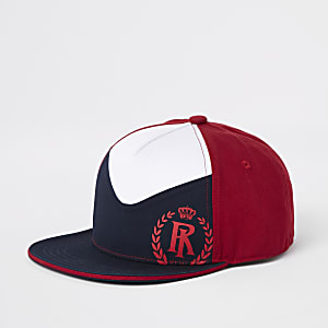 Boys red block cap