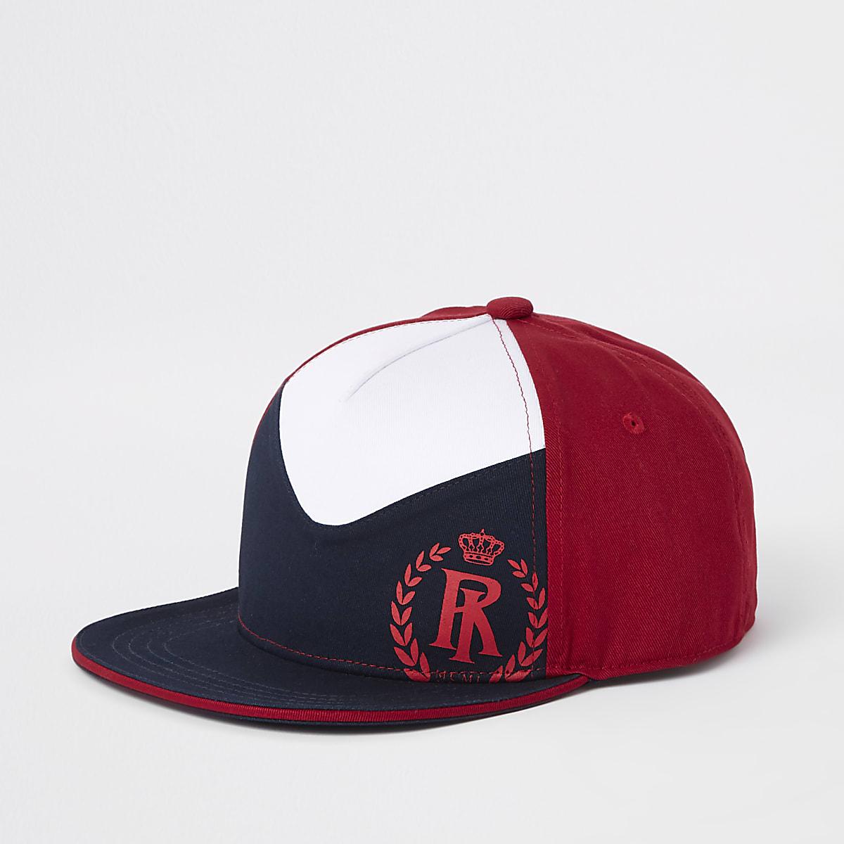 Boys red block cap