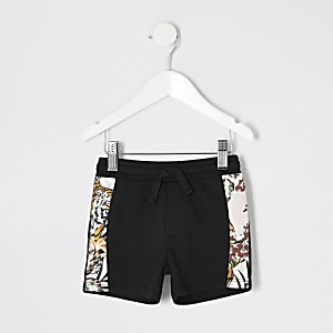Schwarze Jogging-Shorts