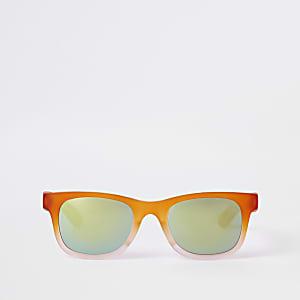 Lunettes de soleil rétro orange dégradé pour garçon