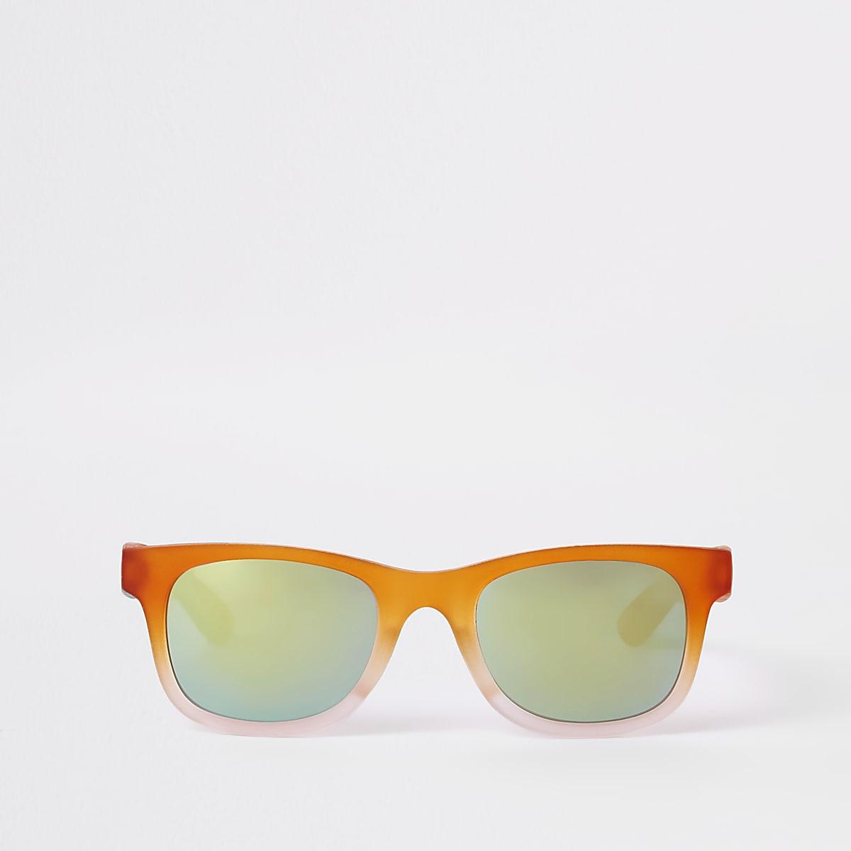 Boys orange ombre retro sunglasses