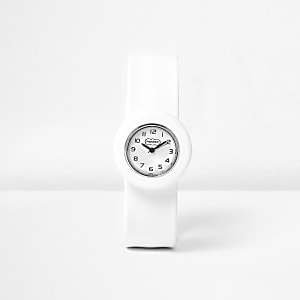 Weiße Armbanduhr