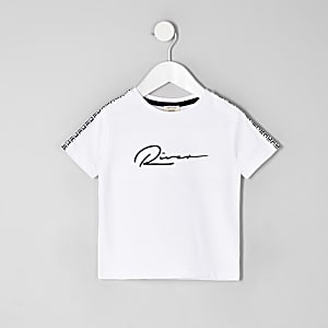 Mini boys white 'River' T-shirt