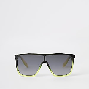 Boys black visor sunglasses