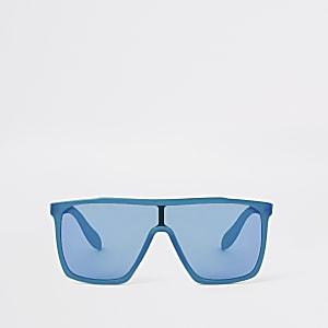 Blauwe visor zonnebril voor jongens