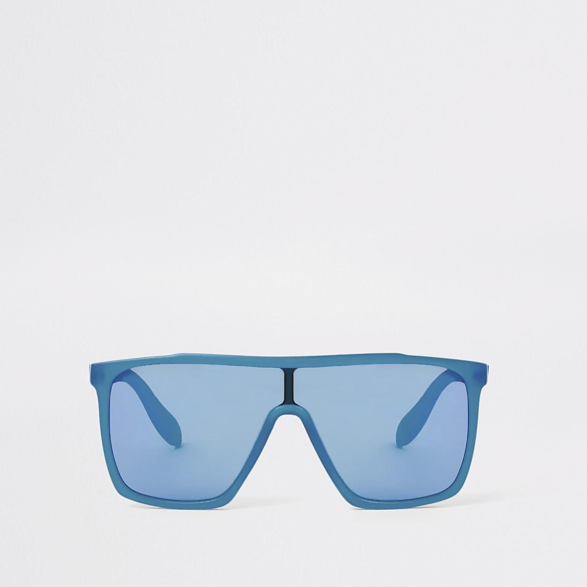 Boys blue visor sunglasses